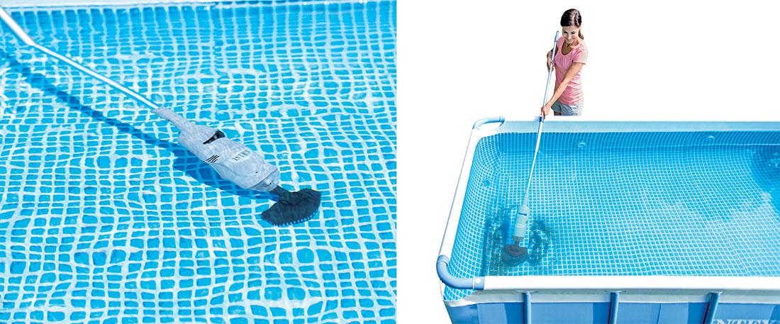 Nettoyeur batterie rechargeable intex for Aspirateur piscine octogonale