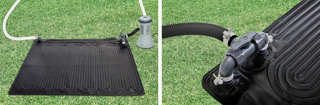 Chauffage solaire de piscine intex for Bache pour chauffer eau piscine