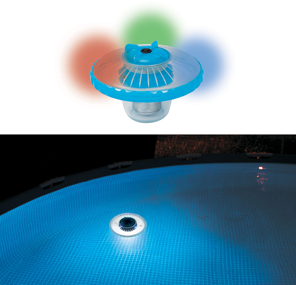 Lampe intex led flottante for Ampoule pour piscine