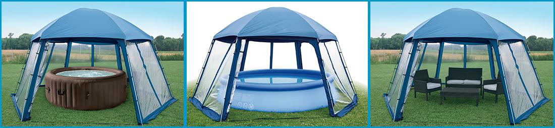 Auvent de protection pour piscines ou spas for Protection piscine