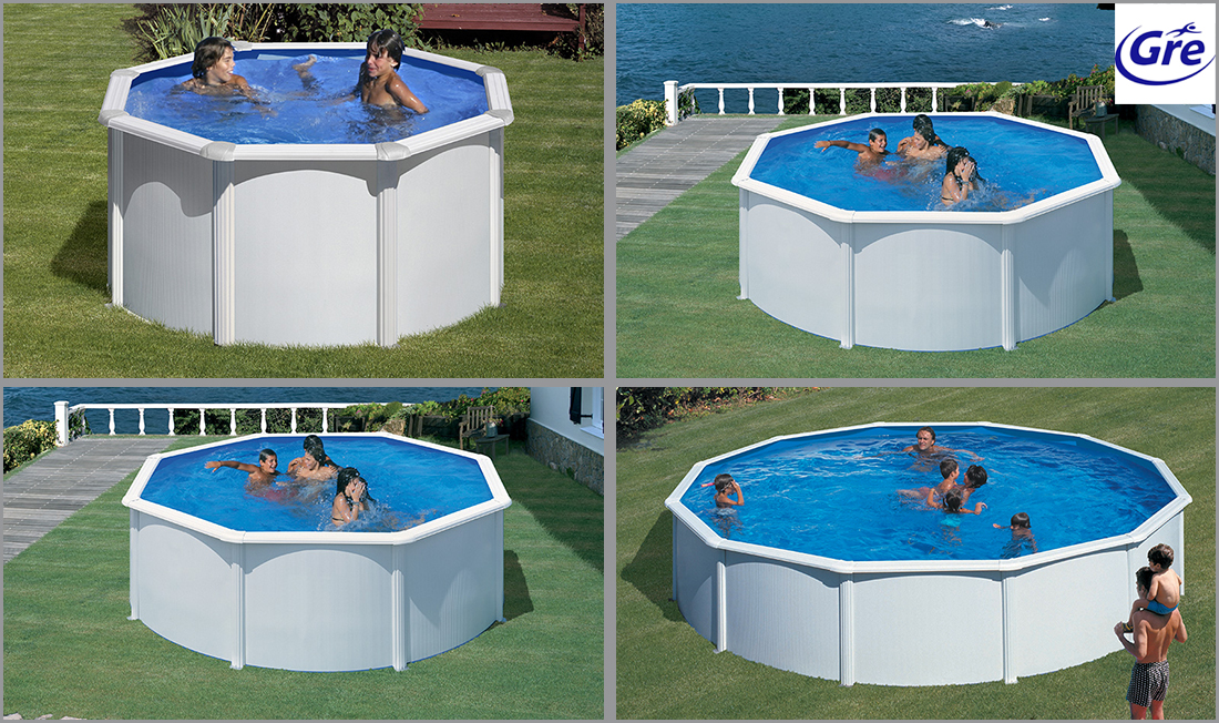 Piscine acier gr fidji ronde for Liner piscine gre ronde