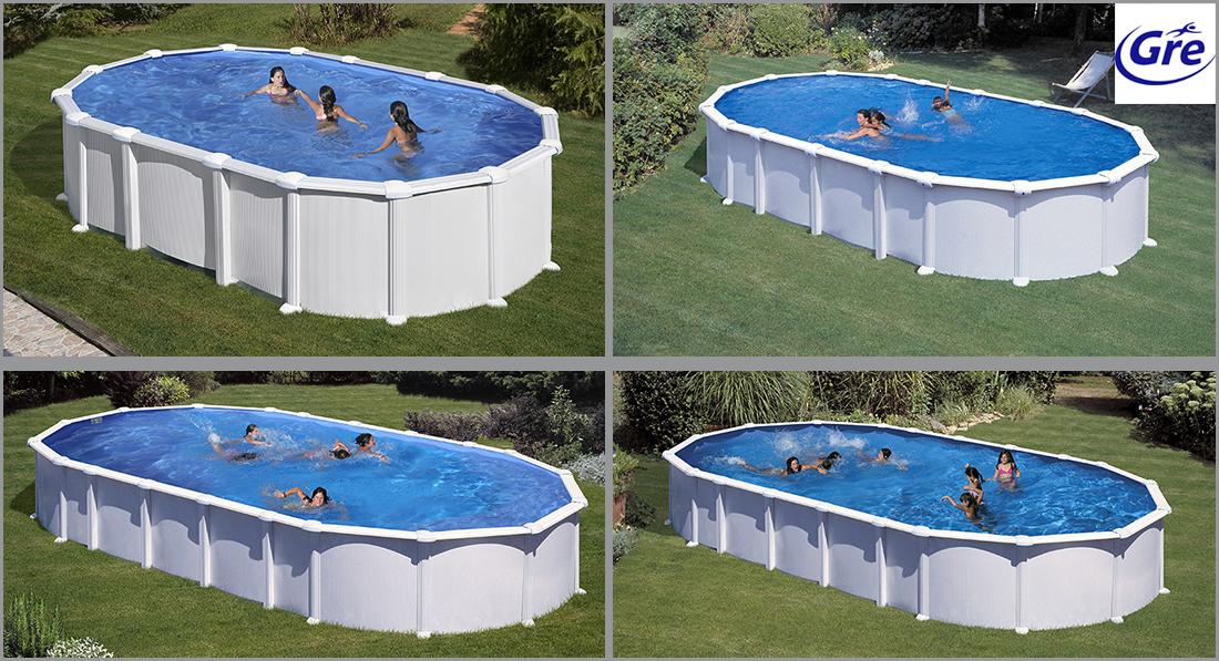Piscine acier gr haiti ovale for Gre piscine