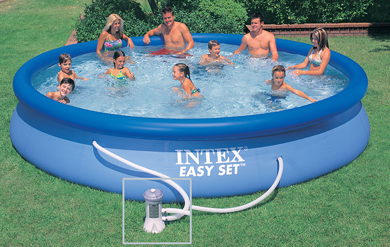 Piscine autoportante intex easy set 4 57 x h0 84m for Easy piscine
