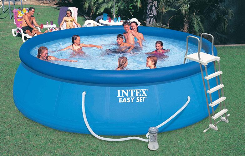 Piscine autoportante intex easy set 4 57 x h1 22m for Bache piscine easy set