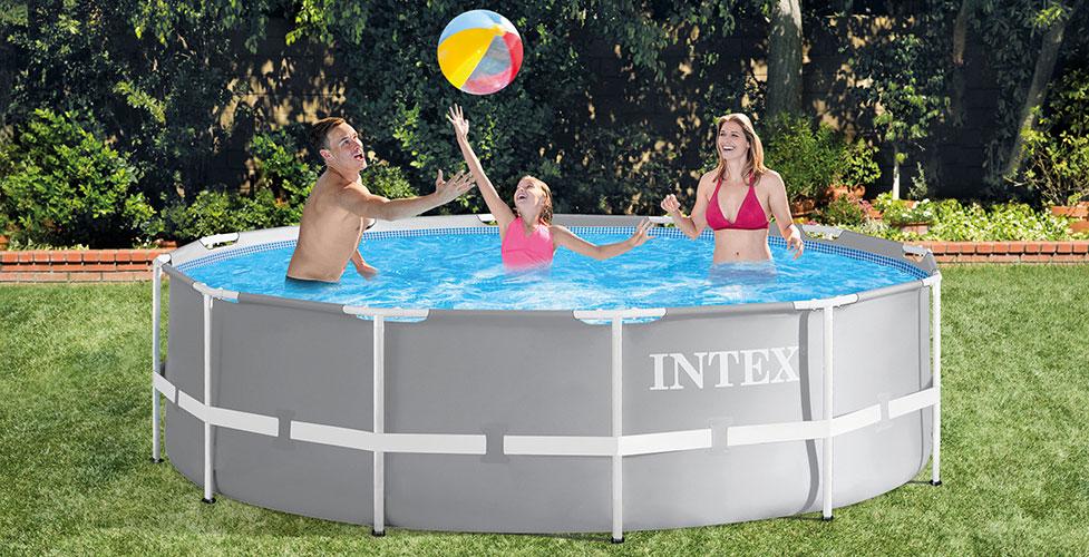 Piscine tubulaire intex ronde prism frame 3 66 x h1 22m - Rechauffeur piscine hors sol intex ...