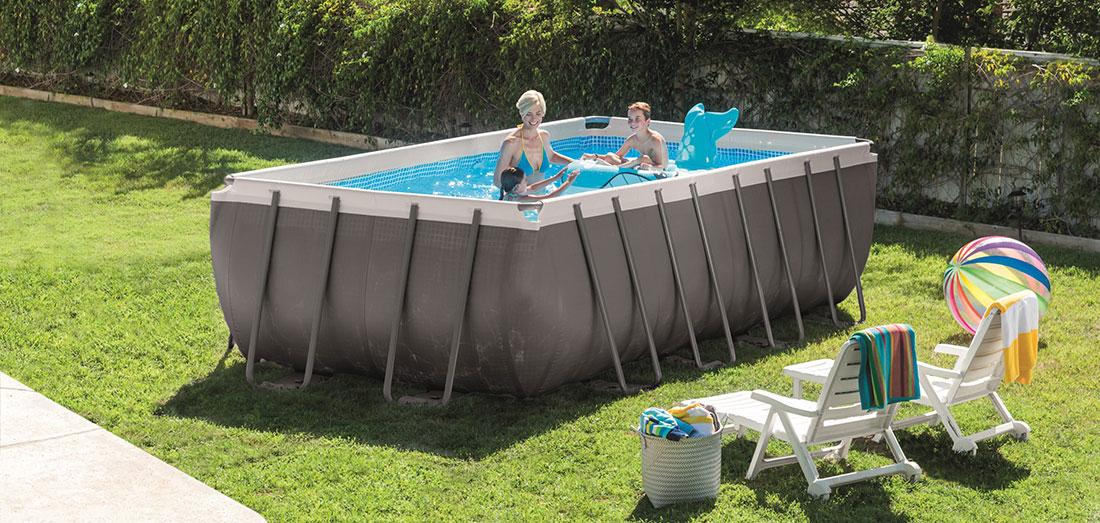 piscine tubulaire intex ultra silver 4 57 x 2 74 x h1 22m rectangle. Black Bedroom Furniture Sets. Home Design Ideas