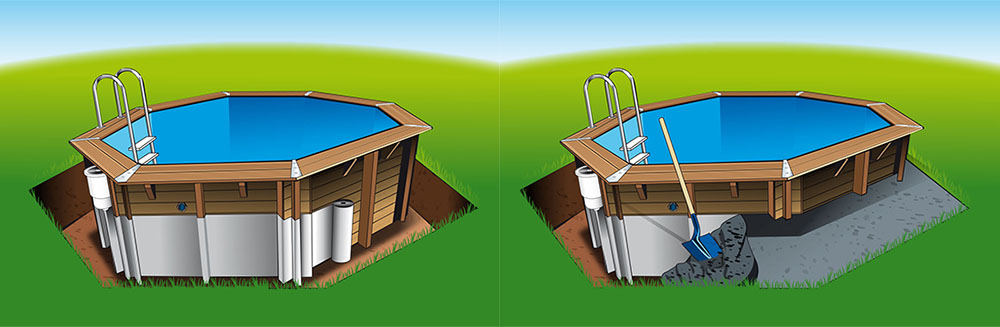 Piscine bois lagon 5 50 x 4 00 x h1 20m for Piscine en bois a enterrer