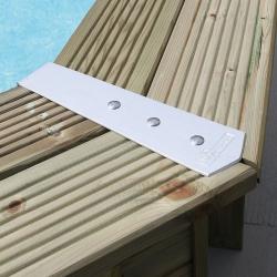 Finition de margelles aluminium Ubbink pour piscines bois