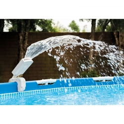 Cascade piscine Intex LED multicolore