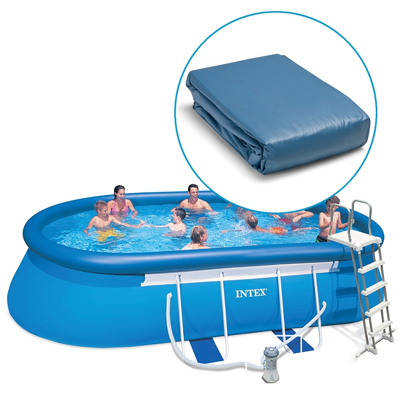 Liner piscine intex ellipse autoportante ovale - Habillage piscine hors sol intex ...