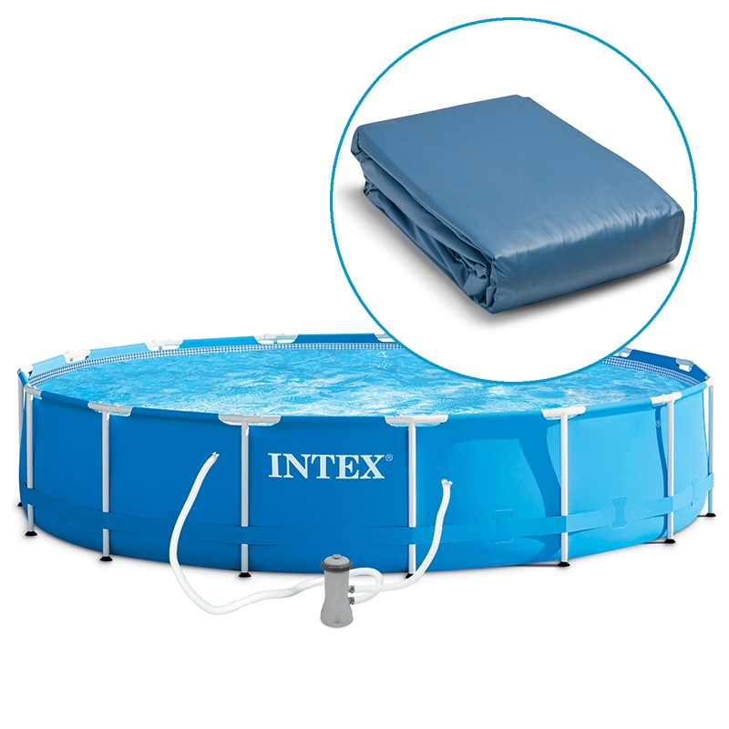 Liner piscine intex metal frame tubulaire ronde for Piscines autoportees