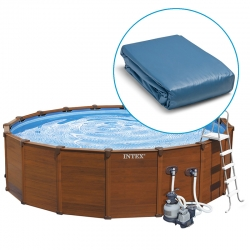 Liner pour piscine Intex Sequoia ou Graphite tubulaire ronde