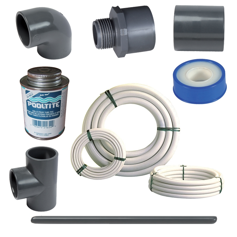 Kit plomberie piscine complet avec tuyaux
