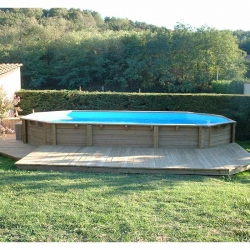 Piscine bois Lagon 8,20 x 4,70 x h1,30m