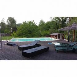 Piscine bois Ubbink Sunwater 5,55 x 3,00 x h1,40m