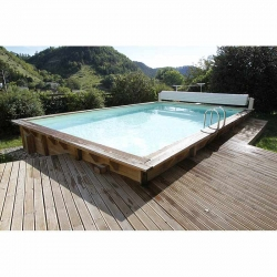 Piscine en bois rectangle Ubbink Sunwater 5,55 x 3,00 x h1,40m
