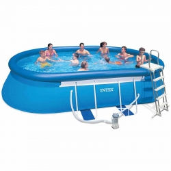 Piscine autoportée Intex Ellipse 6,10 x 3,66 x h1,22m