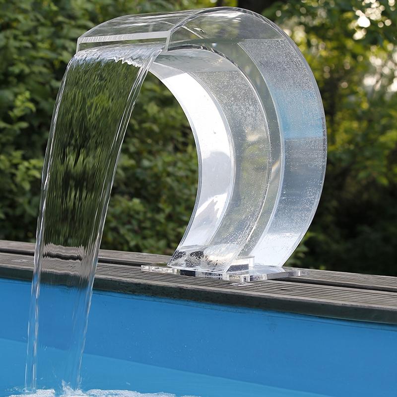 Cascade piscine Mamba Acry-LED transparente