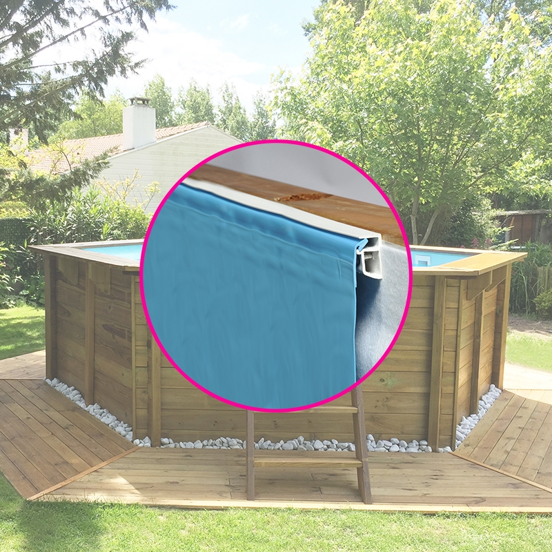 Liner pour piscine bois sunbay hexagonale for Commander liner piscine