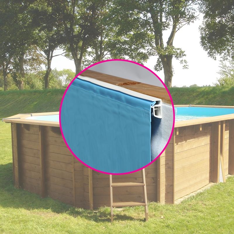 liner pour piscine bois sunbay octogonale allong e bois. Black Bedroom Furniture Sets. Home Design Ideas