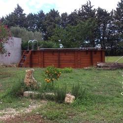 Piscine bois octogonale 4,50 x h1,20m