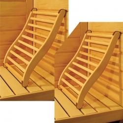 Lot de 2 dossiers confort pour Sauna
