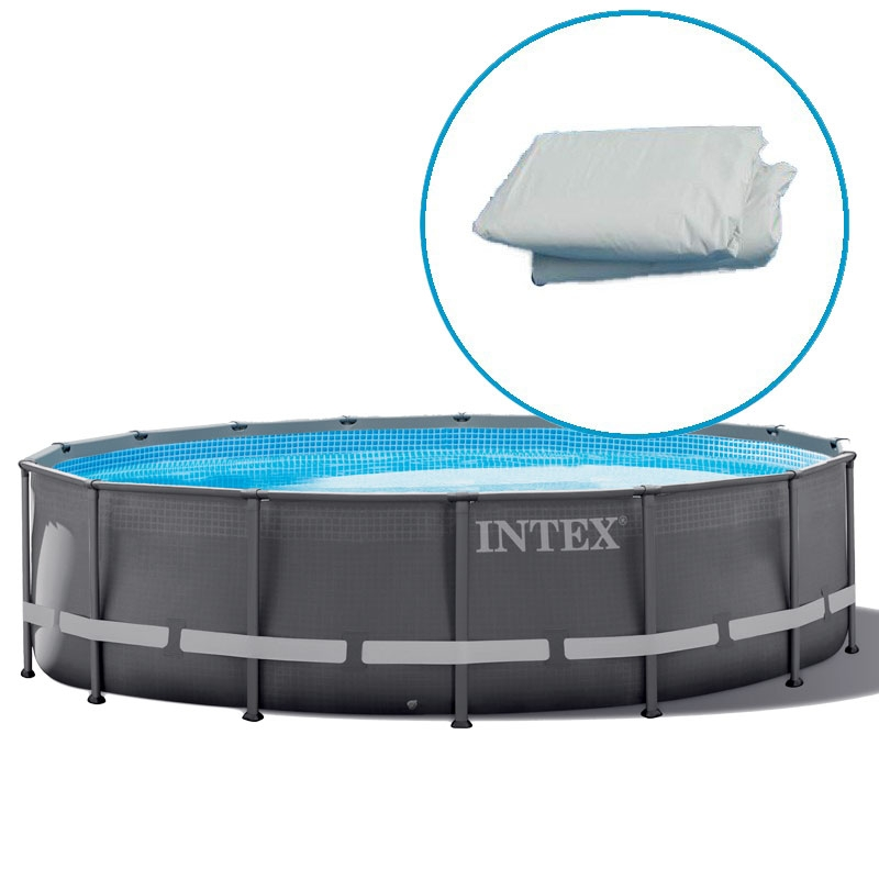 Liner piscine intex ultra frame tubulaire ronde for Liner 460x120 pour piscine ronde