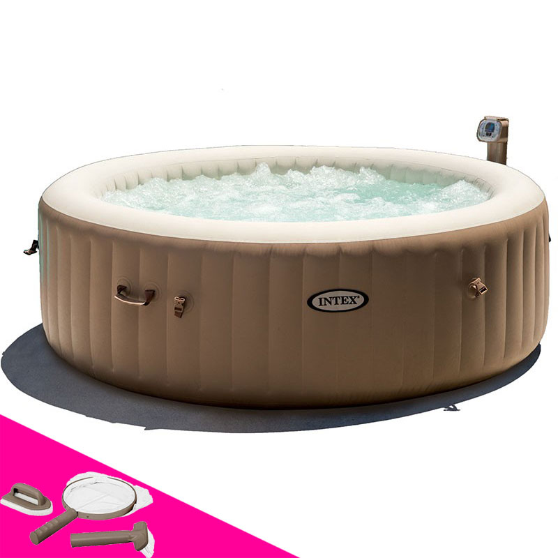 jacuzzi interieur 4 places spa intex pure spa bulles. Black Bedroom Furniture Sets. Home Design Ideas