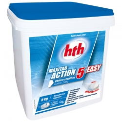 HTH Maxitab action 5 Easy - chlore lent multiactions 5 kg