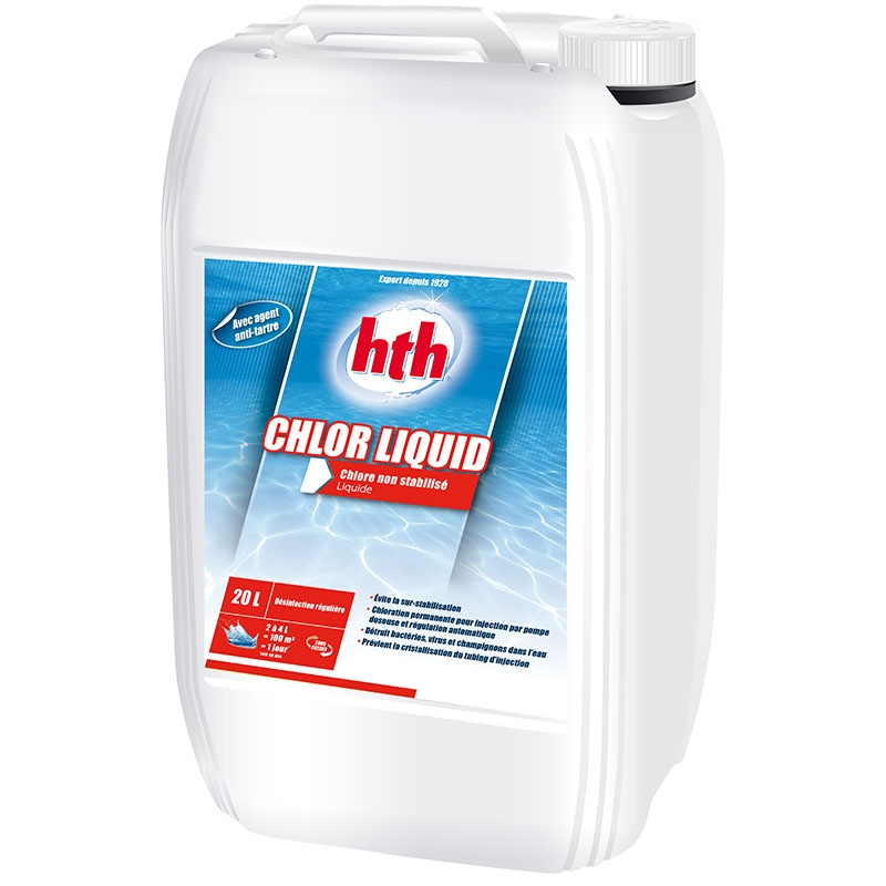 Hth chlore liquide pour piscine for Chlore hth piscine