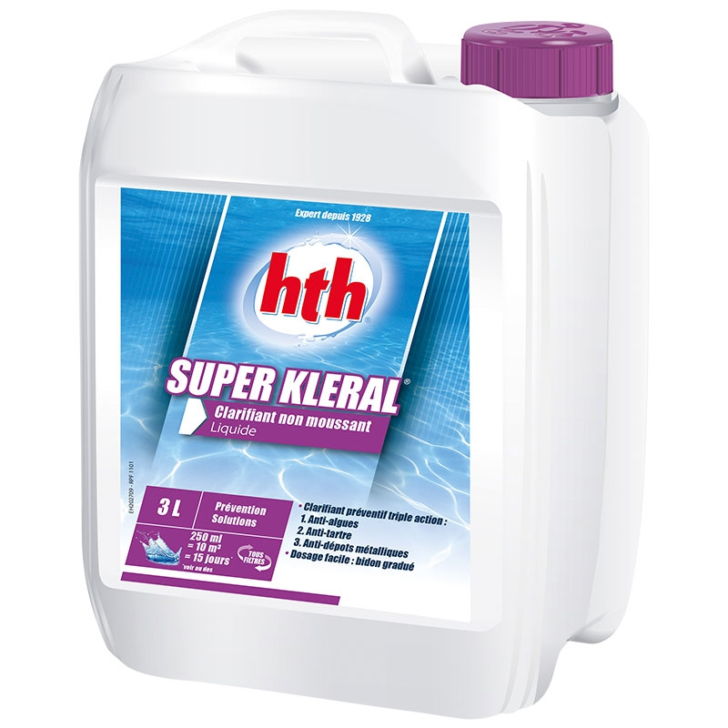 HTH Super Kleral - anti-algues et clarifiant triple action