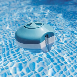 Diffuseur flottant piscine avec thermomètre