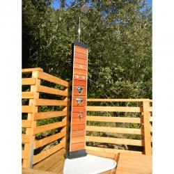 Douche piscine solaire Wood 35L