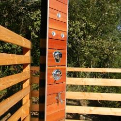Douche solaire aspect bois Wood 35L