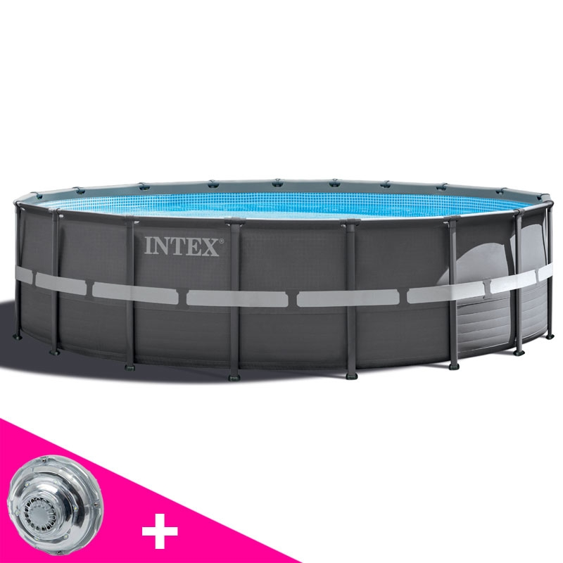 Piscine tubulaire intex ronde ultra frame 5 49 x h1 32m for Piscines autoportees