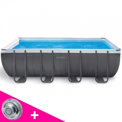 Piscine tubulaire Intex Ultra Silver 4,57 x 2,74 x h1,22m