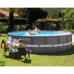 Piscine tubulaire Intex Ultra Frame XTR ronde 4,88 x h1,22m