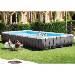 Piscine rectangulaire Intex Ultra Frame XTR 9,75 x 4,88 x h1,32m