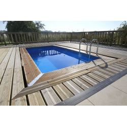 Piscine bois rectangulaire Azura 4,50 x 2,50 x h1,26m