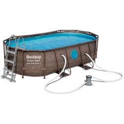 Piscine Bestway Ovale Power Steel Swim Vista 4,27 x 2,50 h1,00m
