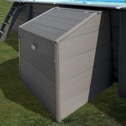 Coffre de filtration pour piscine bois composite