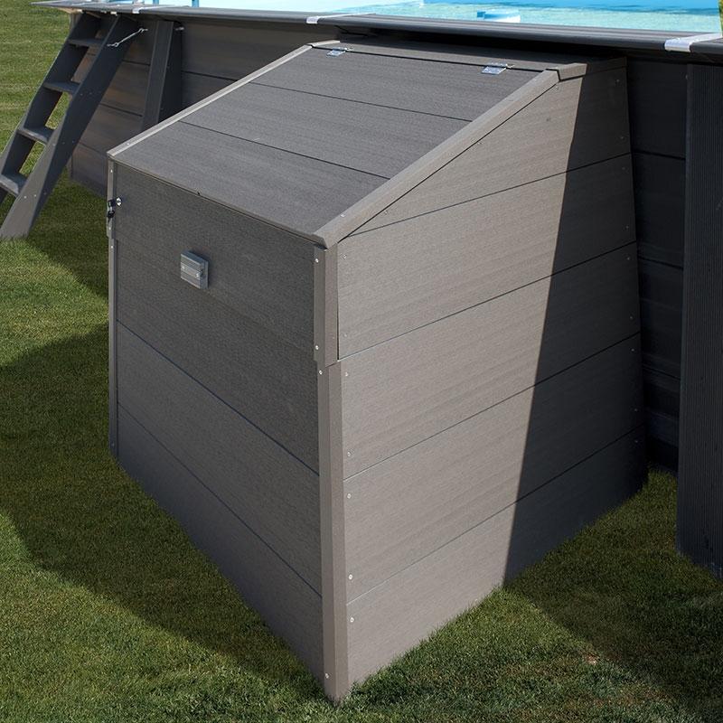 Coffre De Filtration Piscine En Bois Composite Gre Coffre Sunbay Gre L80 X 60 X H91cm