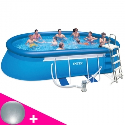 Piscine autoportée Intex Ellipse 5,49 x 3,05 x h1,07m