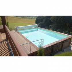 Piscine bois rectangle 15,50 x 3,50 x h1,55m