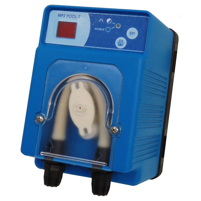 Pompe doseuse digitale oxygène actif, chlore, anti-algues ou floculant