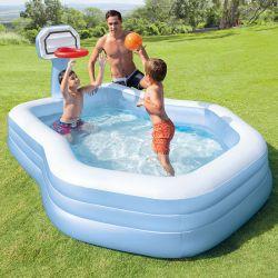 Aire de jeux piscine Intex avec panier de basket