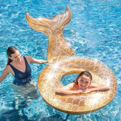 Bouée Sirène gonflable à paillettes Glitter Intex