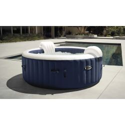 Intex Pure Spa Blue Navy bulles 4 places luxe