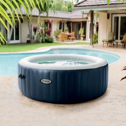 Intex Pure Spa Blue Navy bulles 6 places luxe