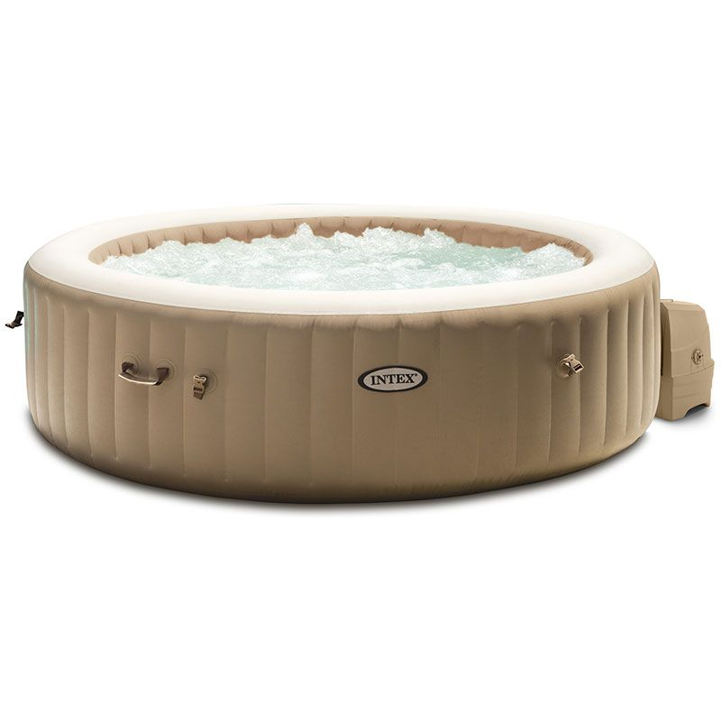 Spa Gonflable Intex Purespa Sahara Rond 6 Places Beige